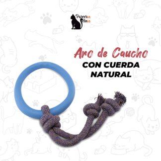 ARO DE CAUCHO CON CUERDA NATURAL