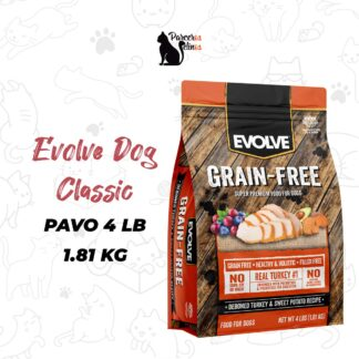 EVOLVE DOG GRAIN FREE PAVO 4 LB - 1.81 KG