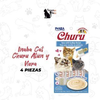 Inaba Cat Churu 4 piezas de atún y vieiras