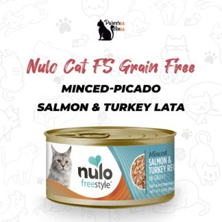 NULO CAT FS GRAIN FREE MINCED-PICADO SALMON & TURKEY LATA 3 OZ - 85 GR