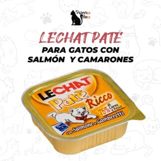 LECHAT PATÉ PARA GATOS CON SALMÓN Y CAMARONES