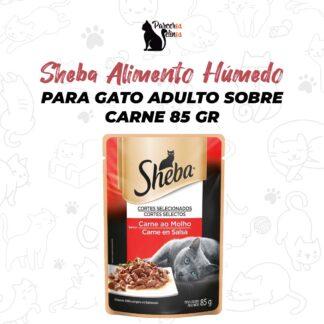 Sheba Alimento Húmedo Para Gato Adulto Sobre Carne 85 gr