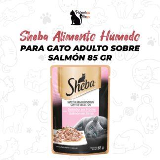 Sheba Alimento Húmedo Para Gato Adulto Sobre Salmón 85 gr