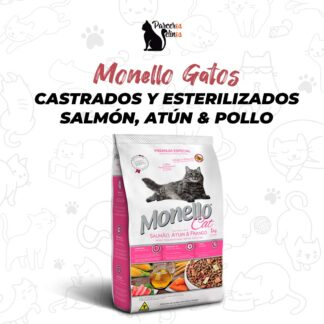 Monello Gatos Castrados y Esterilizados Salmón Atún & Pollo