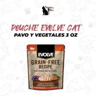 POUCHE EVOLVE CAT PAVO Y VEGETALES 3 OZ