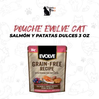 POUCHE EVOLVE CAT SALMON Y PATATAS DULCES 3 OZ