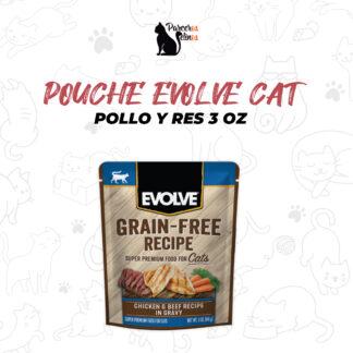 POUCHE EVOLVE CAT POLLO Y RES – 3 OZ