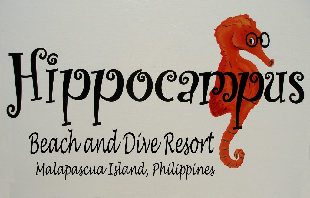 Hippocampus Beach and dive resort Malapascua logo
