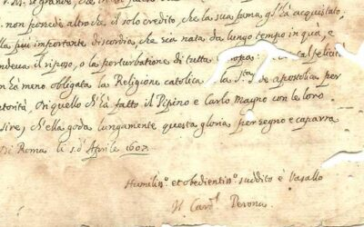 1607 Cardinal Jacques Davy DuPerron Signed Manuscript (Sold for $400)