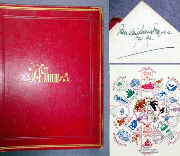 c1890 Crest Album Owned & Signed by Illustrator Pauline Baynes (Sold for $60)