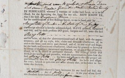 1784 Revolutionary War Land Deed Document (Sold for $43)