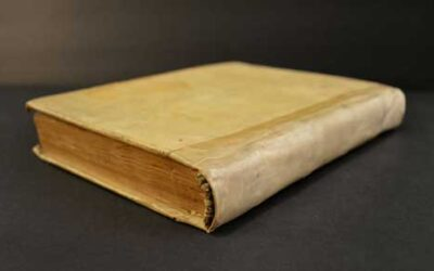 What is vellum binding on an antique book?