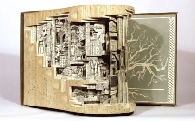 Old Books Re-Imagined as New Artwork