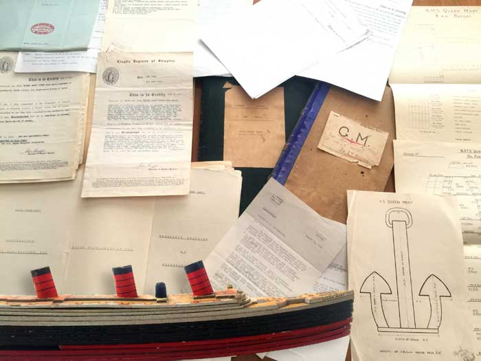 SS Queen Mary WW2 Historical Papers