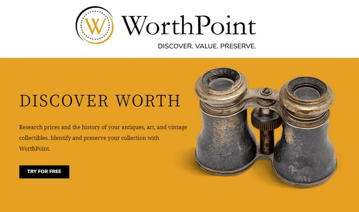Research Prices & History with WorthPoint's Price Guide