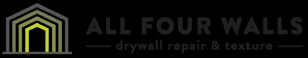 All-Four-Walls-Drywall-Repair-Horizontal Logo Color