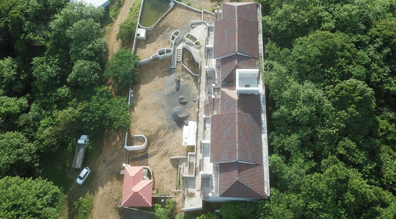 aerial shot of condo complex