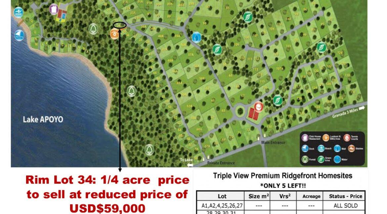 Laguna Rim Lot 34 Map