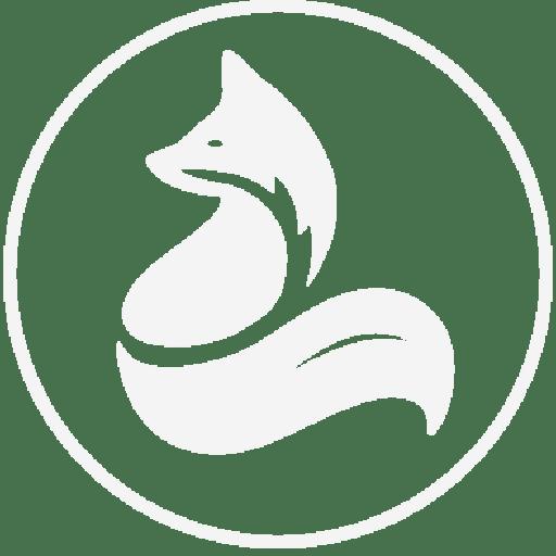 Parkdale Real Estate Agent Fox Team Logo Square White