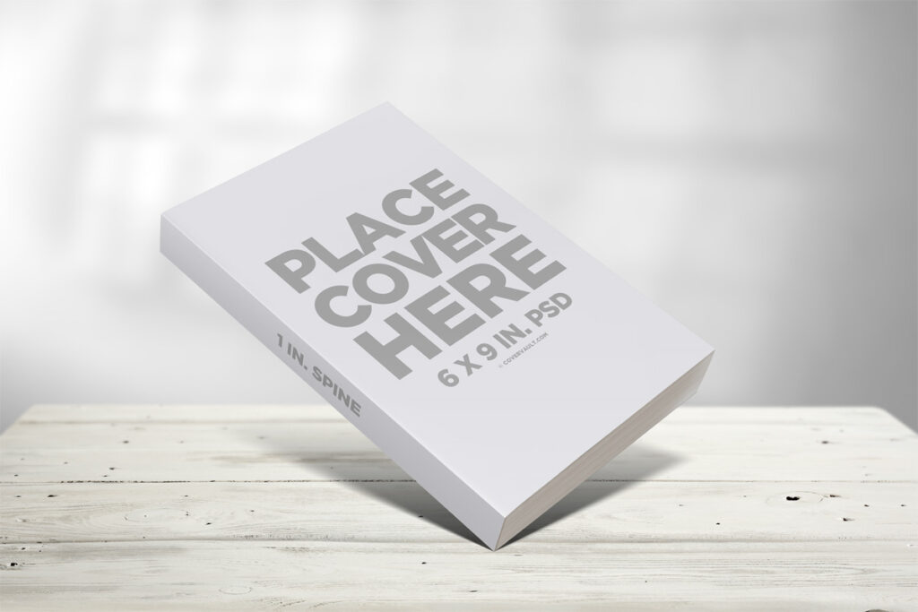 6 x 9 Paperback White Book Mockup