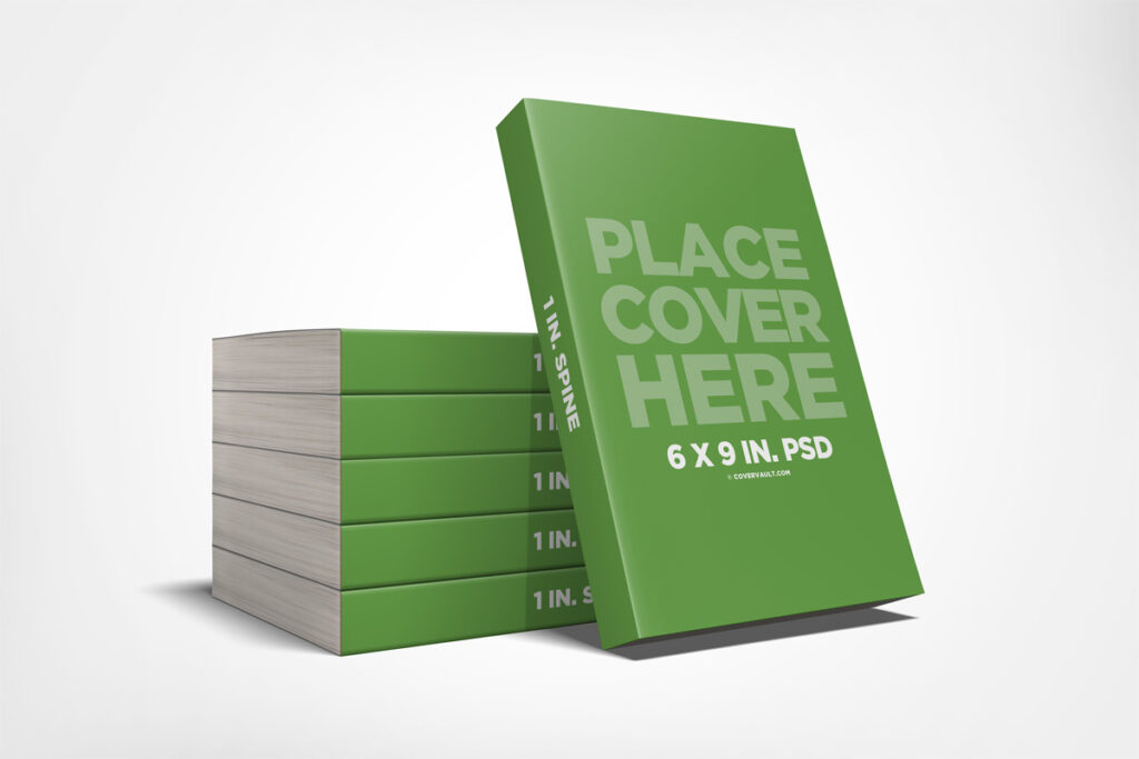 6x9 Stacked Paperback Book Mockup