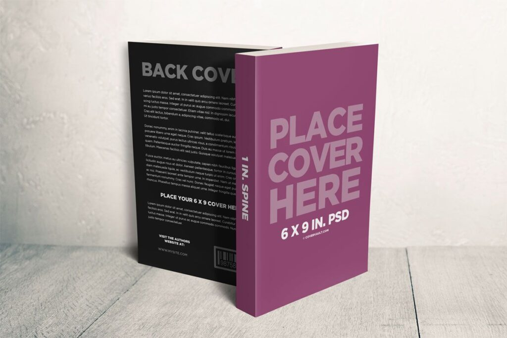 6x9 Front and Back Book Cover Mockup