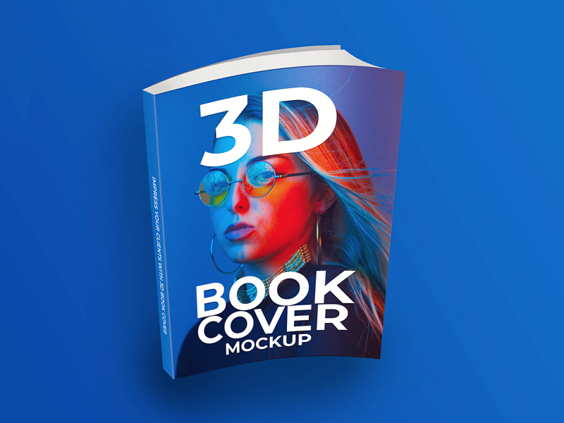 3D Softcover Book Mockup