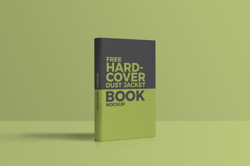 Standing Hardcover Dust Jacket Book Mockup