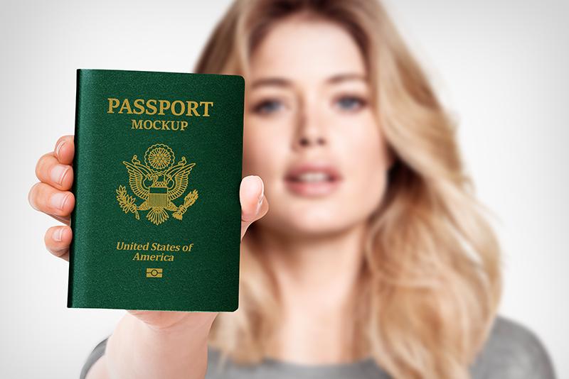 Passport Book Mockup 3