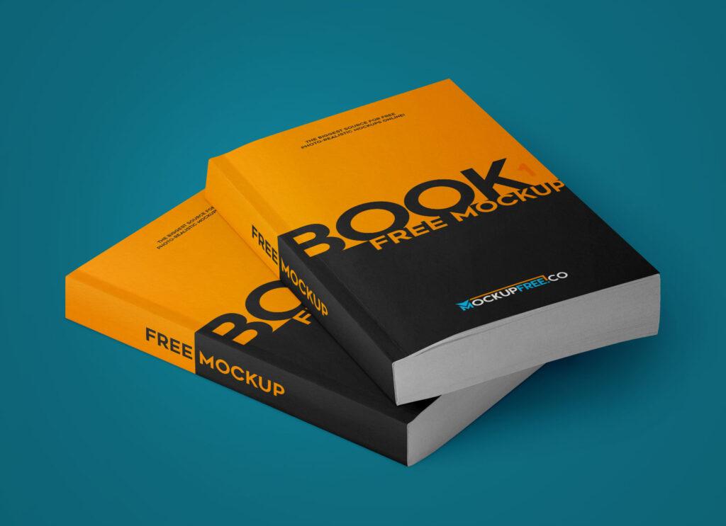 Pair of Paperback Book Mockup