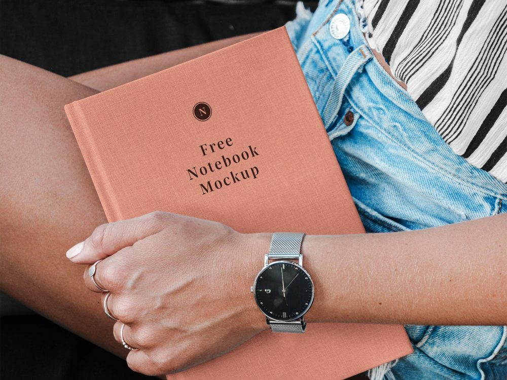 Hand Holding Book Mockup 2