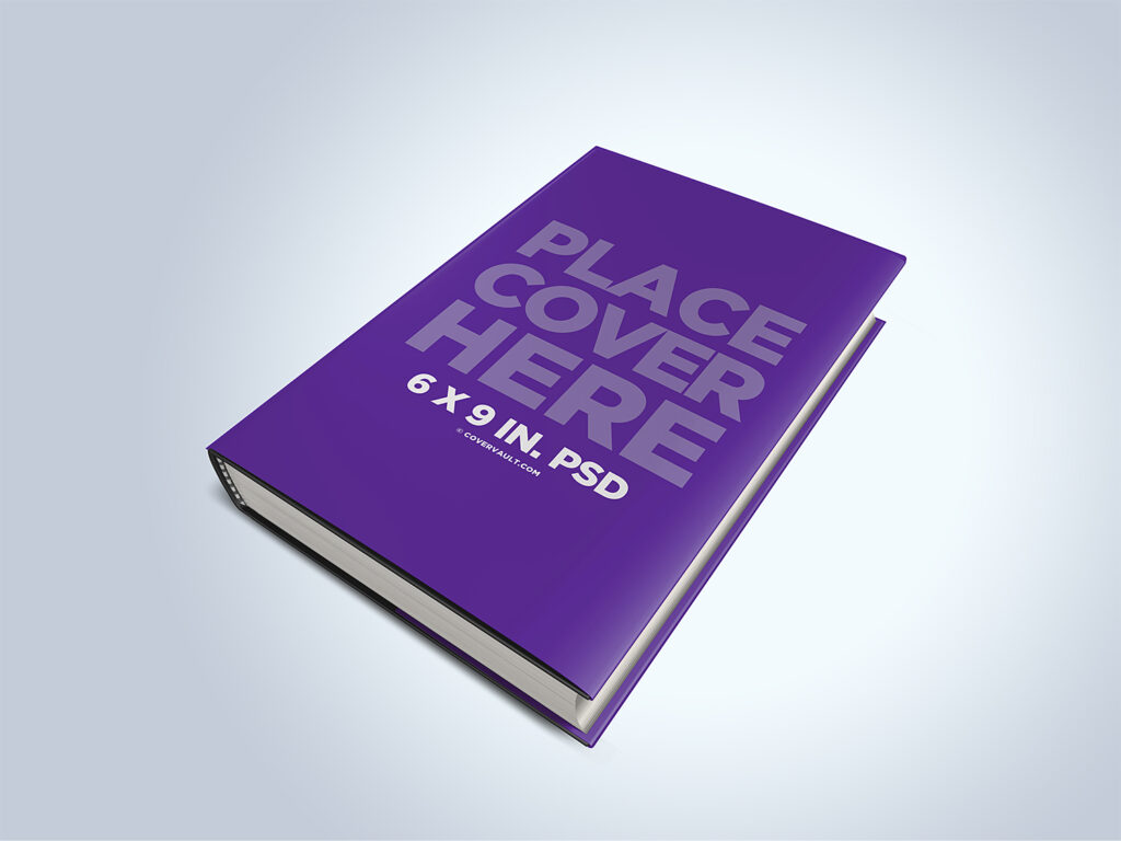 6x9 Hardcover Dust Jacket Book Mockup