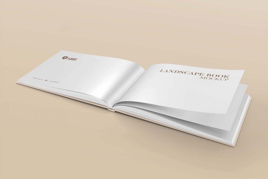 Landscape Book Mockup 5