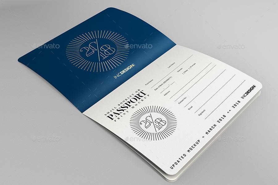 Passport Book Mockup 6