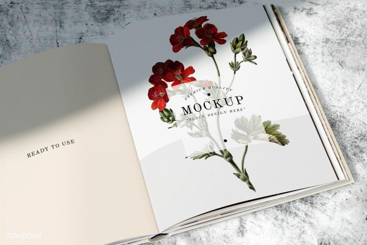 Book Page PSD Mockup