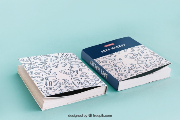 Front and Back Softcover Book Mockup