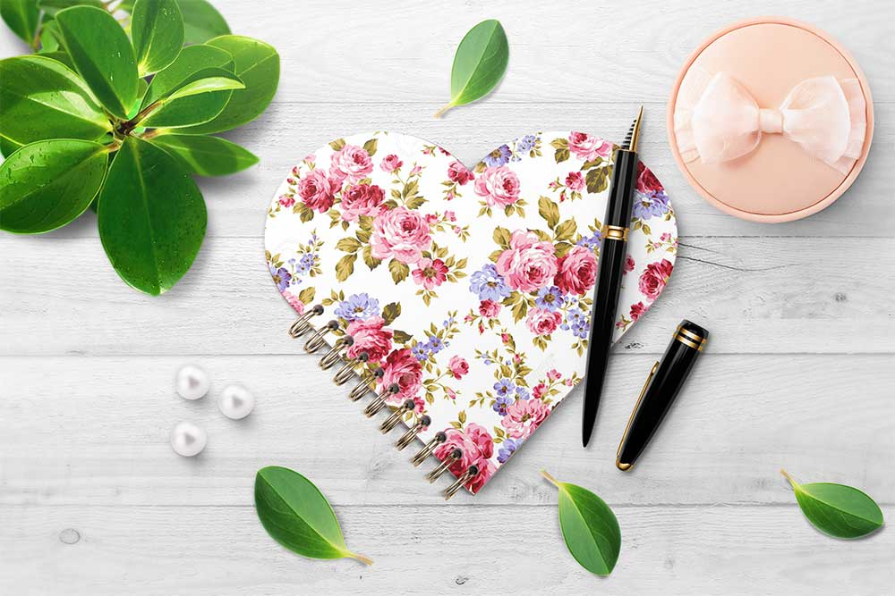 Heart-shaped Spiral Notebook