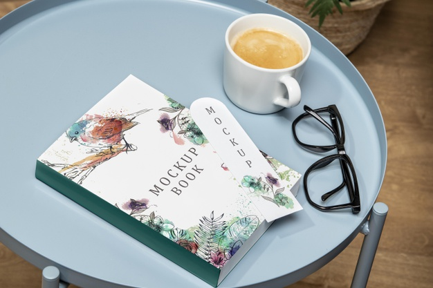 Thick Coffee Table Book Mockup
