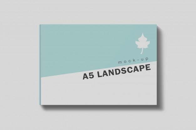Landscape Book Mockup 4