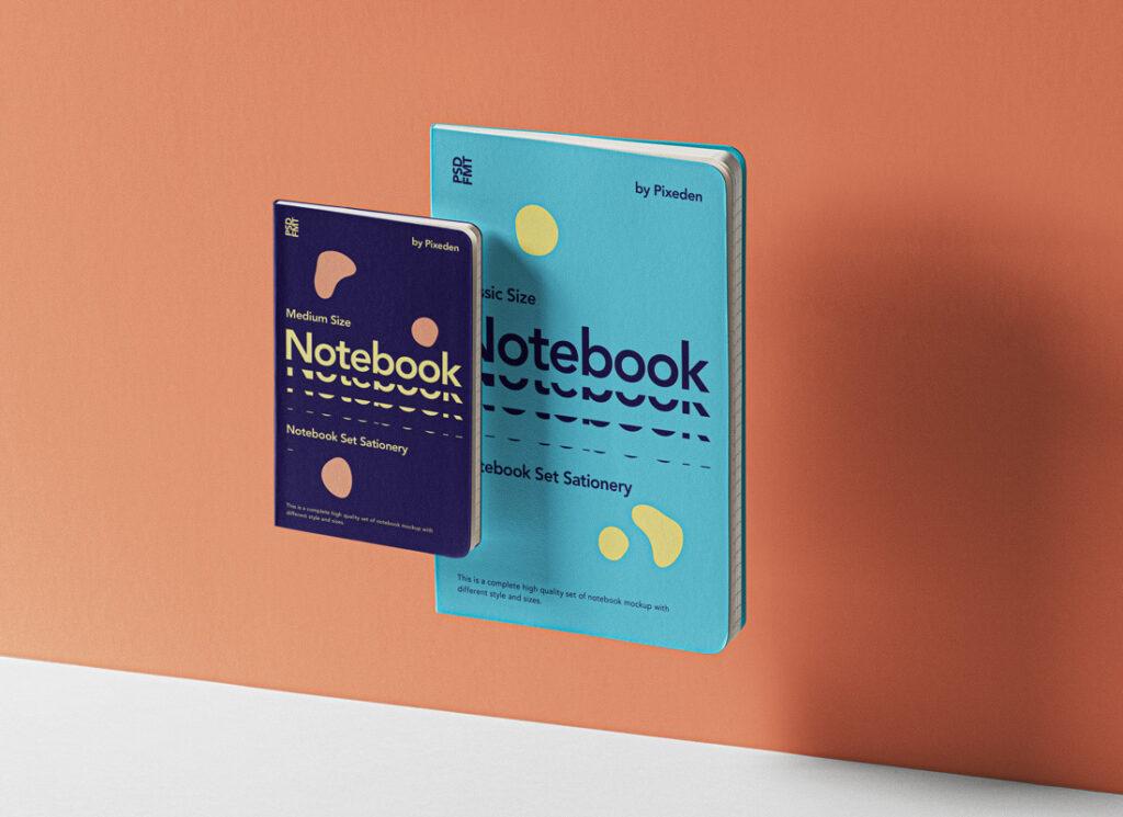 Small and Big NotebookMockup