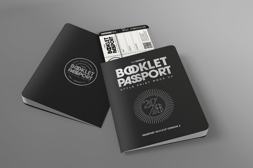 Passport Book Mockup 1