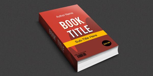 3D Book Mockup in PSD Format