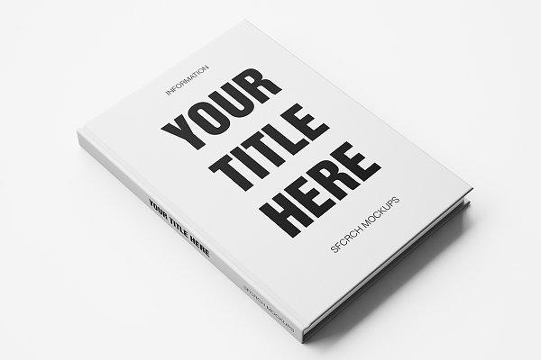 Hardcover White Book Mockup