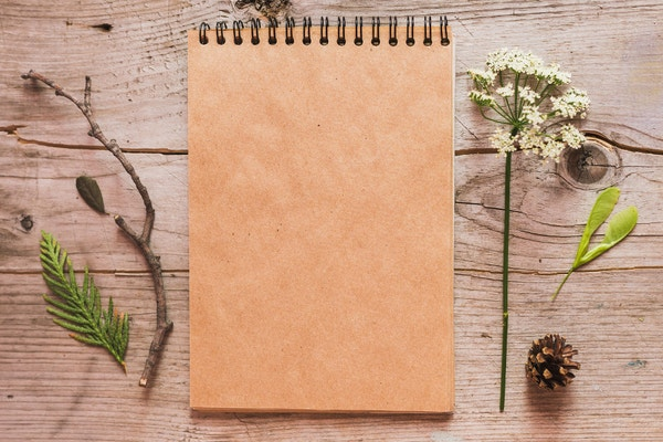 Rustic Notebook Mockup
