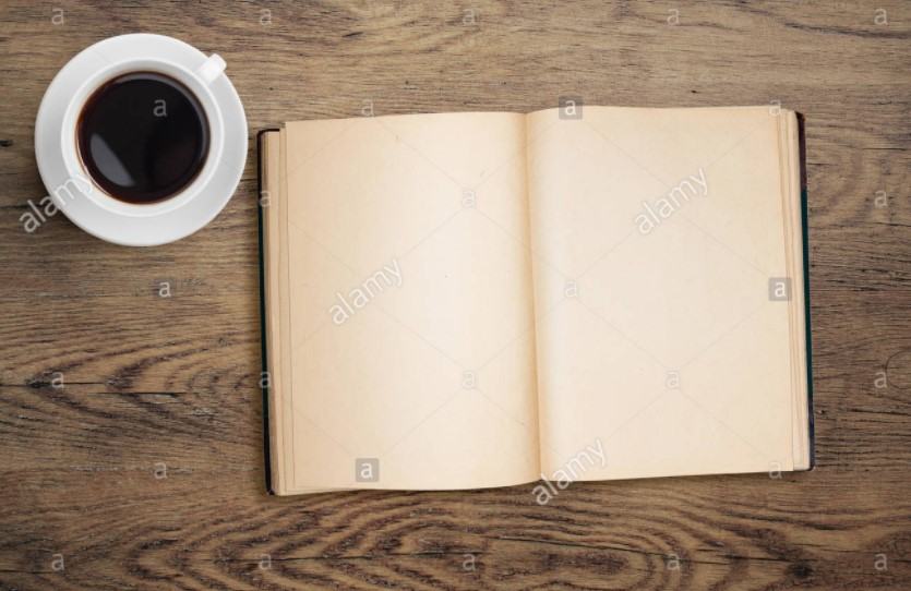 Open Blank Coffee Table Book Mockup