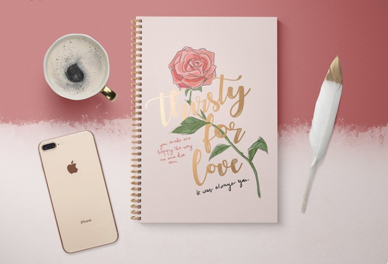Notebook and iPhone Mockup