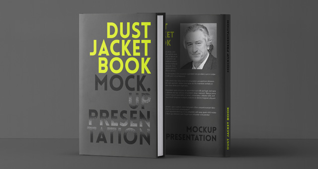 Black Dust Jacket Book Mockup