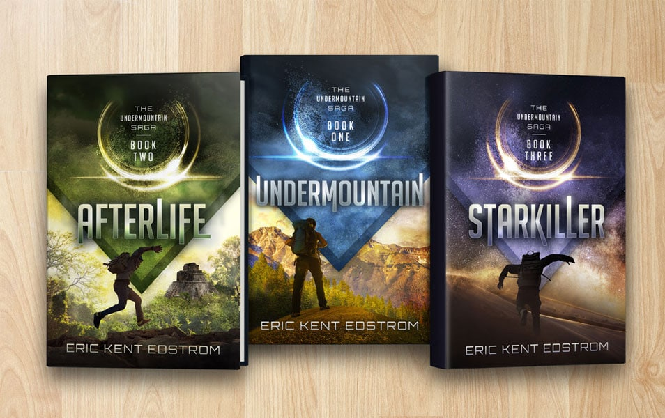 Book Series With Dust Jacket Covers Mockup