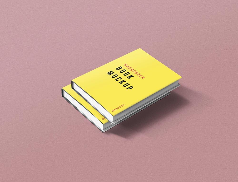Hardcover Book Jacket Mockup