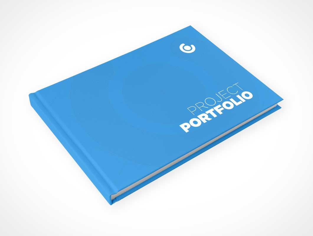 Project Portfolio Book Transparent Background Mockup